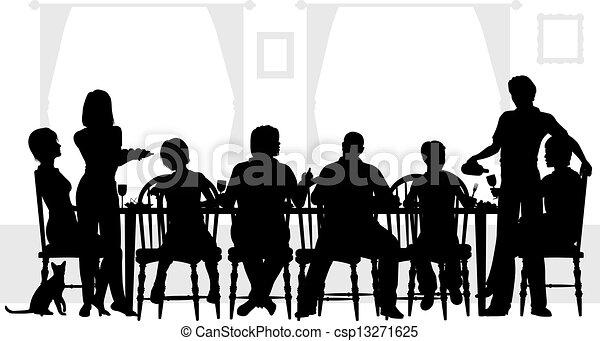 γεύμα , οικογένεια  - csp13271625