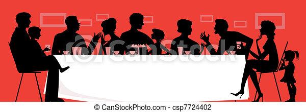 γεύμα , οικογένεια  - csp7724402