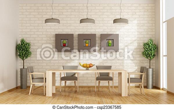 γεύμα , σύγχρονος , δωμάτιο  - csp23367585