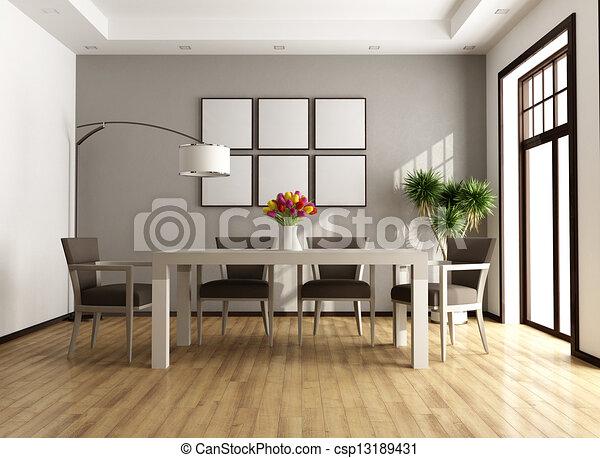 γεύμα , σύγχρονος , δωμάτιο  - csp13189431