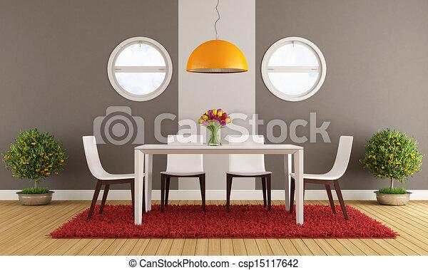 γεύμα , σύγχρονος , δωμάτιο  - csp15117642