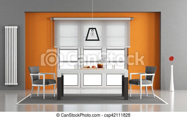 γεύμα , σύγχρονος , δωμάτιο  - csp42111828