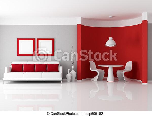 γεύμα , σύγχρονος , δωμάτιο  - csp6051821