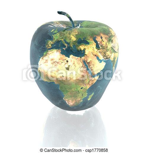 γη , ευφυής , μήλο , πλοκή  - csp1770858