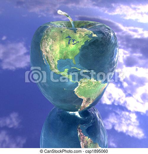 γη , ευφυής , μήλο , πλοκή  - csp1895060