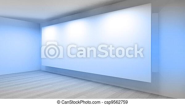 γκαλερί , δωμάτιο , αδειάζω , 3d  - csp9562759
