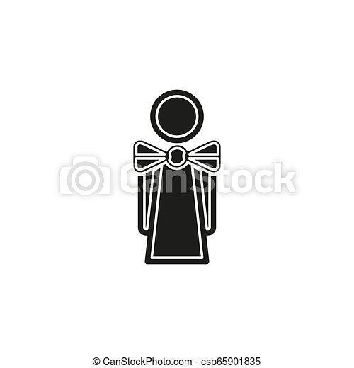 γκαρσόνι , κορίτσι , περίγραμμα , εικόνα , σερβιτόρα  - csp65901835