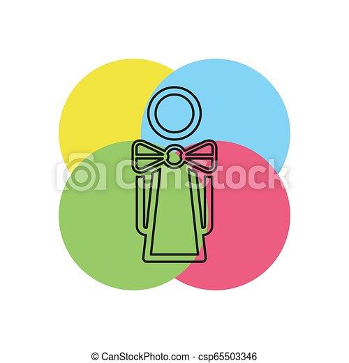 γκαρσόνι , κορίτσι , περίγραμμα , εικόνα , σερβιτόρα  - csp65503346