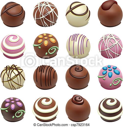 γλυκίσματα , μικροβιοφορέας , σοκολάτα  - csp7923164
