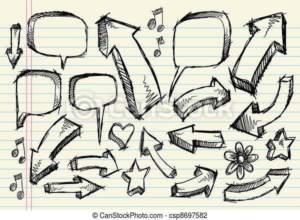 γράφω άσκοπα , δραμάτιο , μικροβιοφορέας , θέτω , σημειωματάριο  - csp8697582