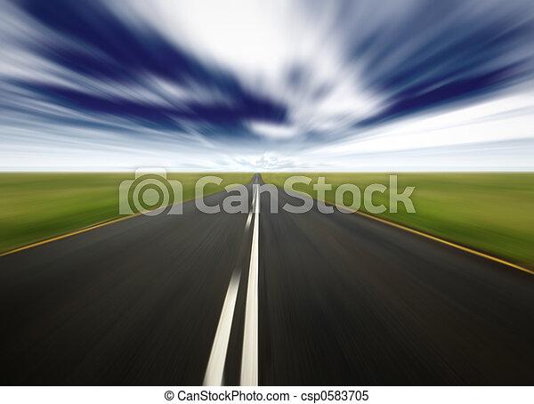 γρήγορα , οδήγηση  - csp0583705