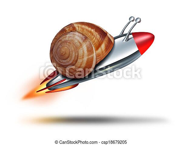 γρήγορα , σαλιγκάρι  - csp18679205