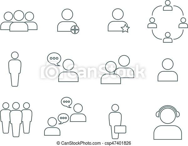 γραμμή , άνθρωποι , απεικόνιση  - csp47401826