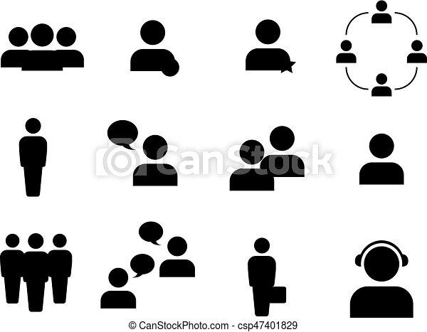 γραμμή , άνθρωποι , απεικόνιση  - csp47401829