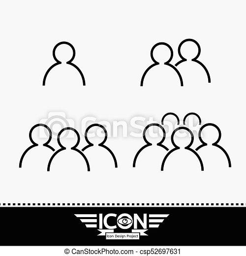 γραμμή , άνθρωποι , εικόνα  - csp52697631