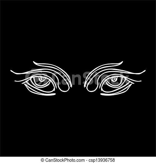 γραμμή , φυλετικός , μικροβιοφορέας , τέχνη , μάτια  - csp13936758