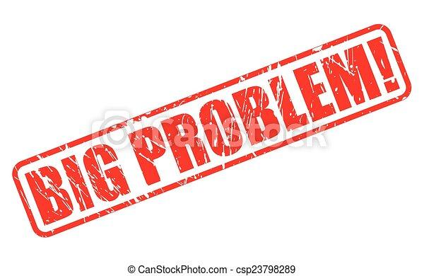 γραμματόσημο , μεγάλος , πρόβλημα , κόκκινο , εδάφιο  - csp23798289