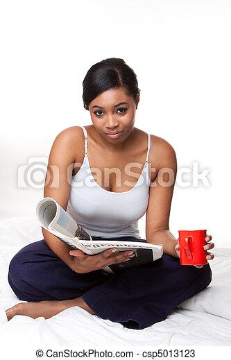 γυναίκα , νέος , αφρικανός  - csp5013123