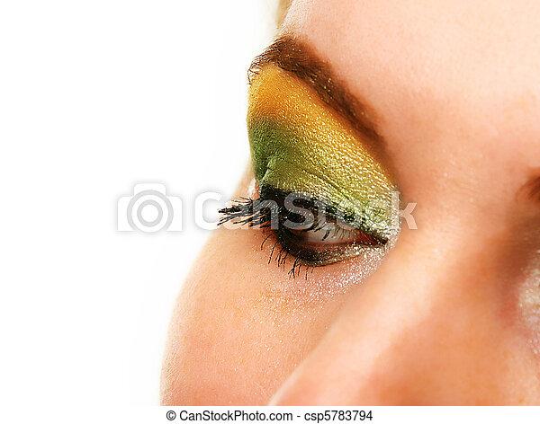 γυναίκα , πάνω , φτιάχνω , μάτι  - csp5783794