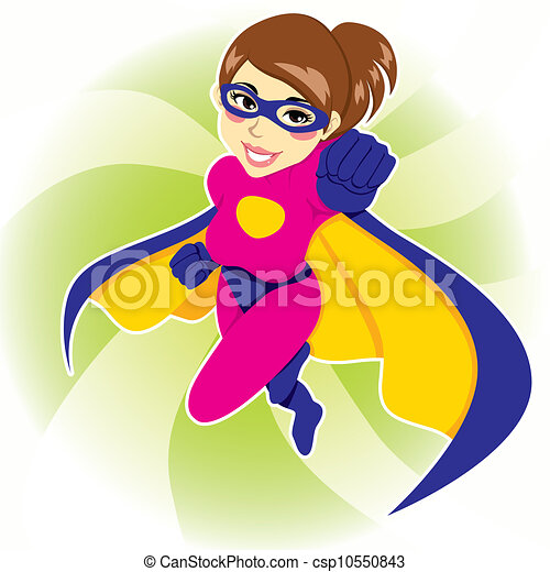 γυναίκα , superhero  - csp10550843