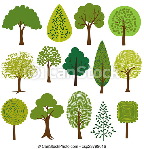 δέντρα , clipart  - csp23799016