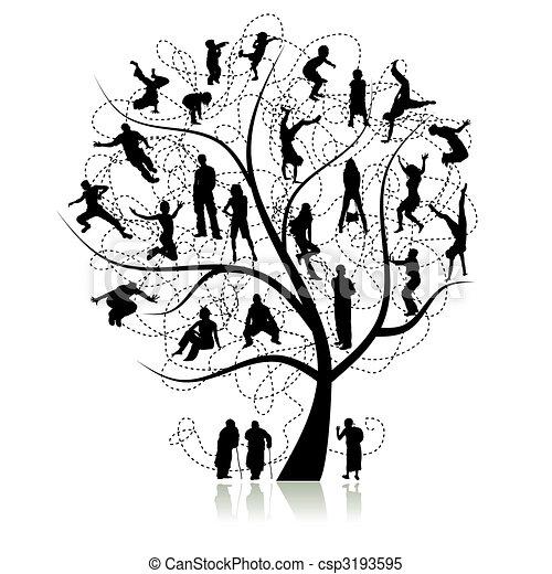 δέντρο , αμοιβαίος , οικογένεια  - csp3193595