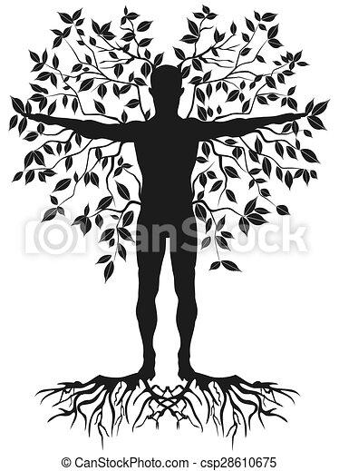 δέντρο , ανθρώπινος  - csp28610675