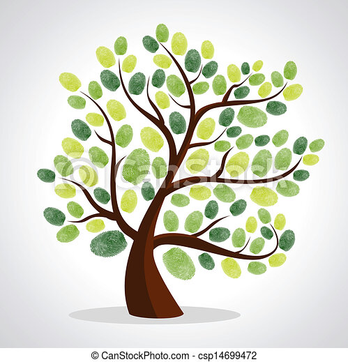 δέντρο , δάκτυλο , φόντο , θέτω , αποτυπώματα  - csp14699472