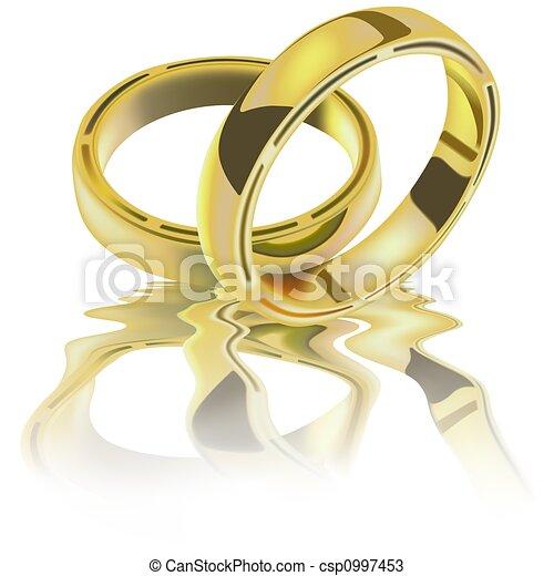 δακτυλίδι , δυο , γάμοs  - csp0997453
