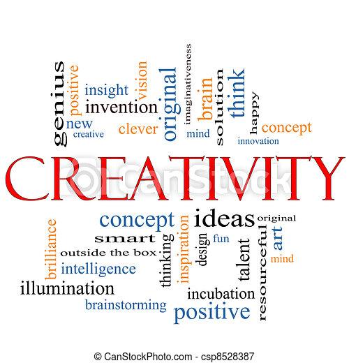 δημιουργικότητα , γενική ιδέα , λέξη , σύνεφο  - csp8528387