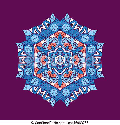 διάστημα , text., εικόνα , κόσμημα , μικροβιοφορέας , mandala , δικό σου  - csp16063756