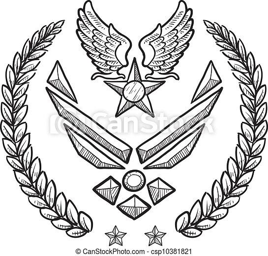 διακριτικά αξιώματος , στρατιωτικός , δύναμη , εμάs , αέραs  - csp10381821