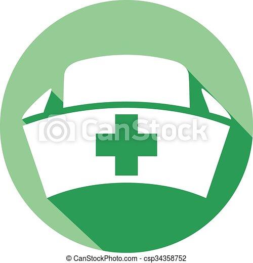 διαμέρισμα , νοσοκόμα , σκούφοs , εικόνα  - csp34358752