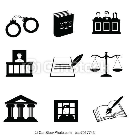 δικαιοσύνη , νόμιμος , απεικόνιση  - csp7017743