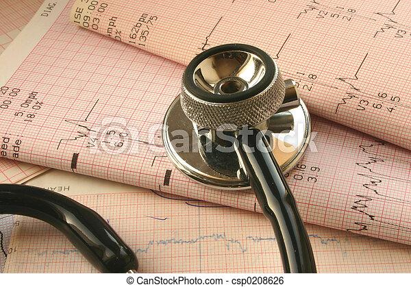 δοκιμάζω , cardiological - csp0208626