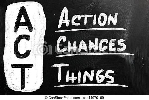 δράση , αδυναμία , αλλαγή  - csp14970169