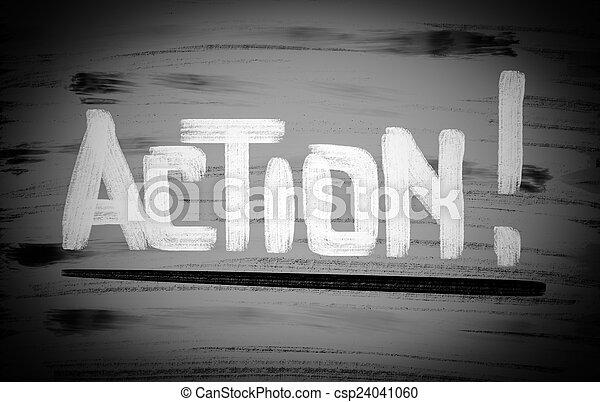 δράση , γενική ιδέα  - csp24041060