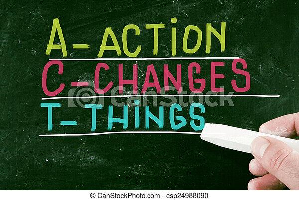 δράση , γενική ιδέα  - csp24988090