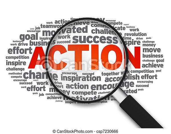 δράση , γυαλί , - , αυξάνω  - csp7230666