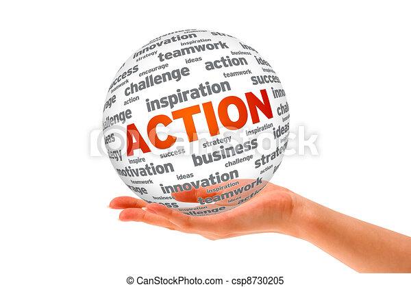 δράση , σφαίρα , 3d , αμπάρι ανάμιξη  - csp8730205