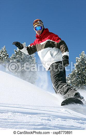 δράση , snowboarder  - csp8770891