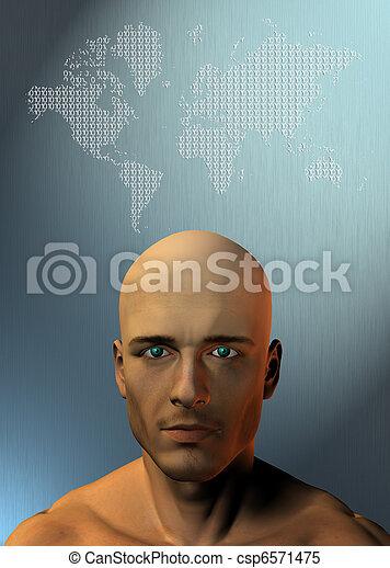 δυάδικος , ανθρώπινος , γη  - csp6571475