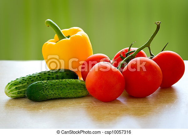 δυναμωτικός αισθημάτων κλπ , φρέσκος , vegetables., τραπέζι  - csp10057316