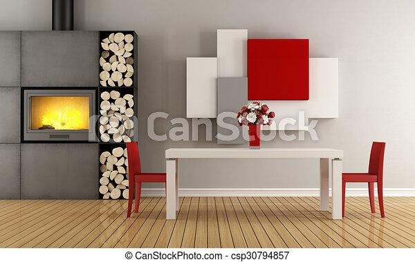 δωμάτιο , γεύμα , σύγχρονος  - csp30794857