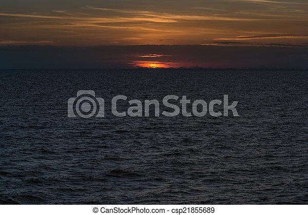 δύση θαλασσογραφία  - csp21855689