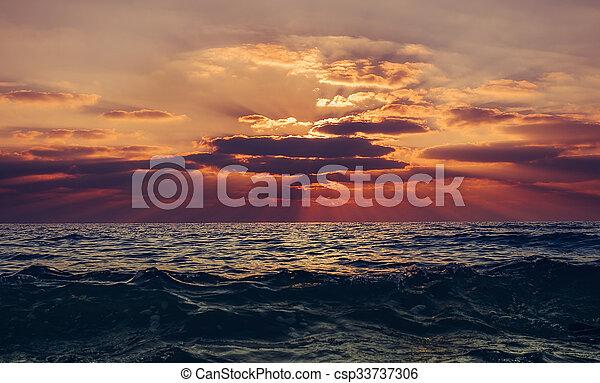 δύση θαλασσογραφία  - csp33737306