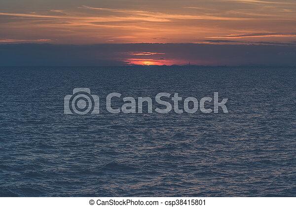 δύση θαλασσογραφία  - csp38415801