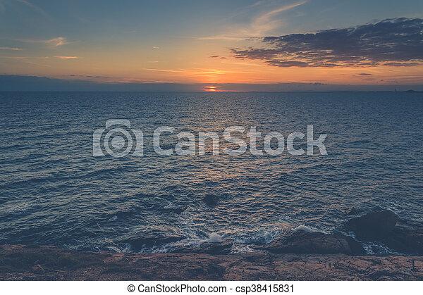 δύση θαλασσογραφία  - csp38415831