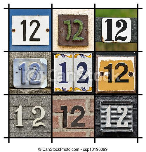 δώδεκα , αριθμοί  - csp10196099