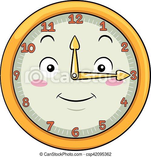 δώδεκα , γουρλίτικο ζώο , μετά , δεκαπέντε , ρολόι  - csp42095362